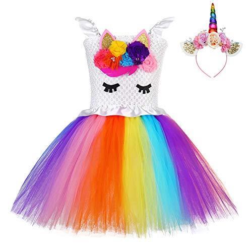 FONLAM Vestido Bautizo Fiesta Niña Disfraz Unicornio