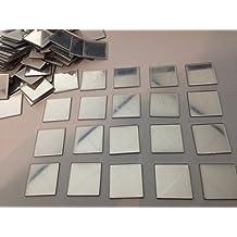 Ardisle 100 piezas de espejo de azulejos de pared pegatina 3D Decal Mosaico de decoración de habitaciones Palo en moderno