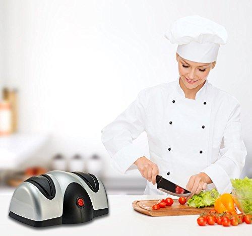 Splink Elektrische Messerschärfer mit 2 Stufen, Messerschleifer Knife Sharpener für aller Größen Japanische und Deutsche Messer