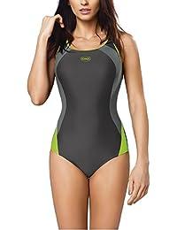 Gwinner Badeanzug Sportbadeanzug Schwimmanzug Bademode Damen einteilig sehr bequem und elastisch, mit weichen, herausnehmbaren Körbchen, aus hochwertigem Material made in EU Alinka