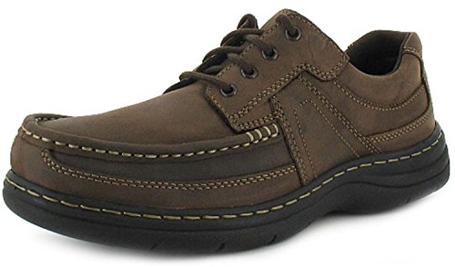 new-mens-gents-brown-leather-hush-puppies-lace-up-casual-shoes-brown-uk-size-9