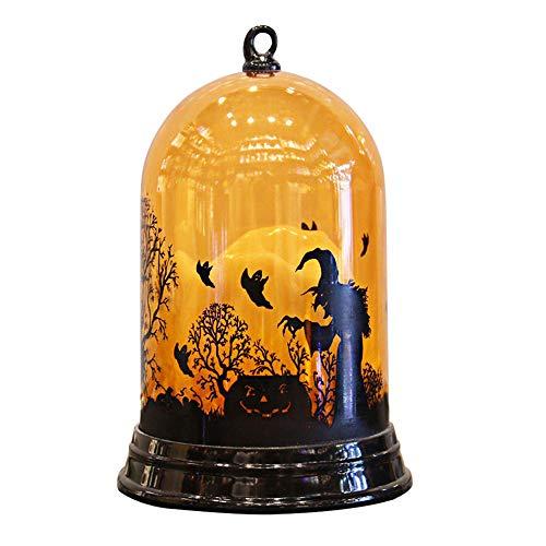 (Halloween Kürbis Lampe Hexen Lampe Festival Atmosphäre Light Bar KTV Shopping Scene Layout Desktop Ornamente,A)