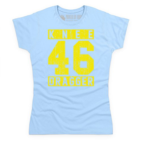 Knee Dragger 46 T-Shirt, Damen Himmelblau