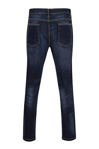 Box Jeans Herren Skinny Jeanshose, Einfarbig Dunkles Jeansblau