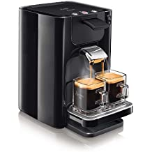 Philips Senseo HD7866/61 Independiente Totalmente automática Combi coffee maker 1.2L 8tazas Negro - Cafetera (Independiente, Combi coffee maker, Negro, Botones, Tapa con bisagra, 1,2 L)