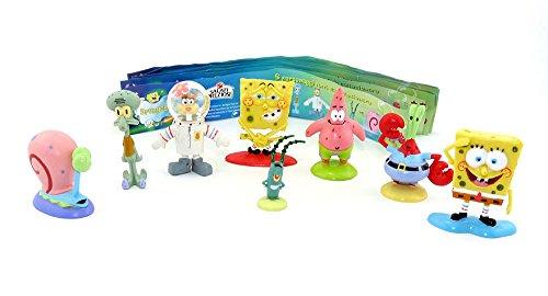 Kinder Überraschung 8 Spongebob Figuren von PREZIOSI COLLECTION 2009 Plus 1 BPZ