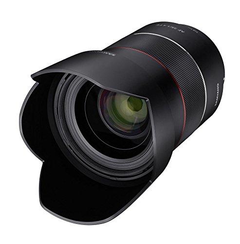 Samyang 35/1,4 Objektiv DSLR Autofokus Sony E Vollformat Fotoobjektiv Lichstärke F1.4, Weitwinkelobjektiv schwarz