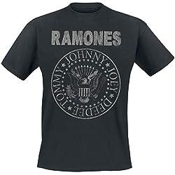 Ramones Hey Ho Let's Go - Vintage Camiseta Negro 4XL