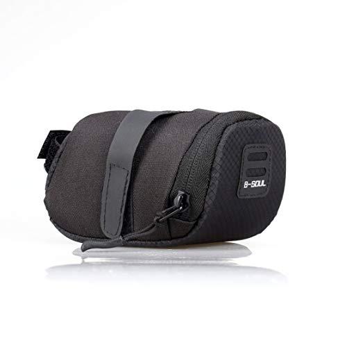 CHANNIKO-DE B-Soul Waterproof Foldable Outdoor Cycling Accessories Mountain Road Bike Saddle Bag Bicycle Seat Bag Tail Rear Pouch Bag (Road Bike Bag)