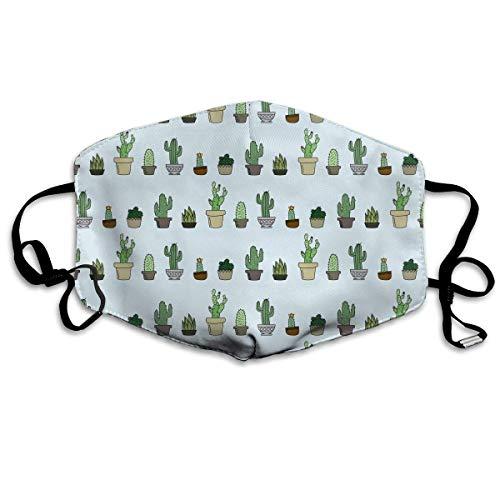 Halb Mädchen Tot Kostüm - Daawqee Mund Maske, Dwarf Succulent Cactus Unisex Fashion Anti Staub Schutzhülle Washable Safety 100% Polyester Comfortable Breathable Health Half Face Masks