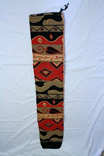 Tasche für Didgeridoo - gepolstert - Baumwolle im Design batik sun - Länge 155cm