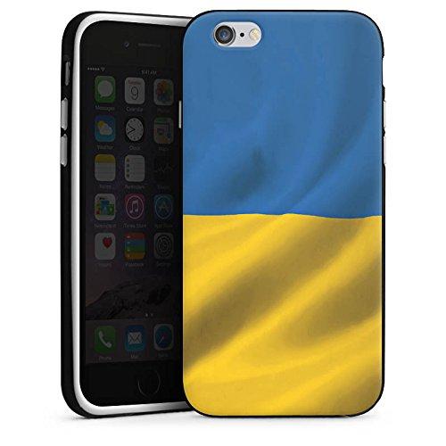 Apple iPhone 6 Housse Étui Silicone Coque Protection Ukraine Drapeau Drapeau Housse en silicone noir / blanc