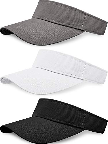 0331b710 3 Pieces Sun Hat Visor Hat for Women Sport Outdoor Sun Visor Adjustable Cap  for Cycling