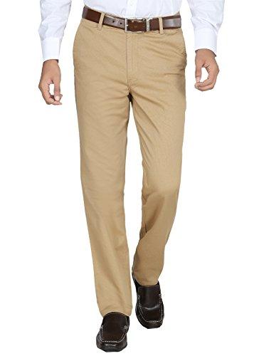Modo Men's Dobby 100% Cotton Formal khaki Trouser_8903473008660_Khaki_36