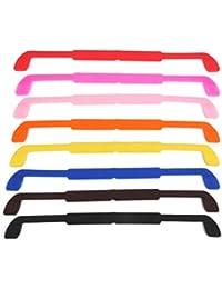 Lot de 8pcs Cordon à Lunettes en Gel Multicolore pour Enfants