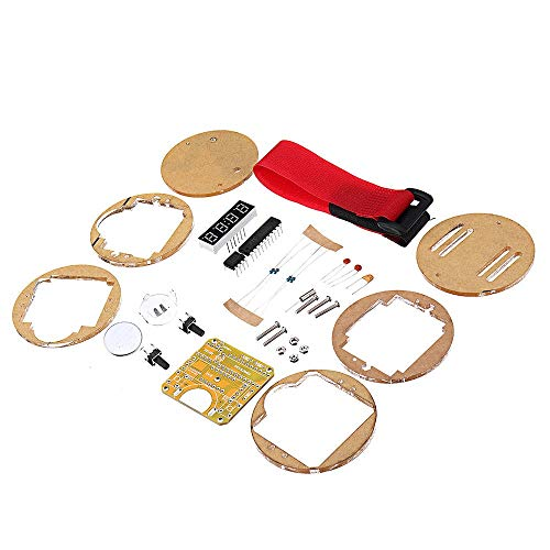Dream Edge Digital Tube LED Digitaluhr Elektronische Uhr DIY Kit Mikrocontroller MCU Uhr mit transparentem Gehäuse Speichermodule