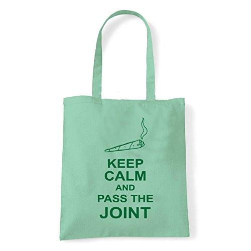 Art T-shirt, Borsa Shoulder pass-the-joint Menta