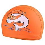 JERKKY Bambini Cuffia per Il Nuoto Animale del Fumetto Stampato Tessuto Impermeabile in PVC Proteggere Le Orecchie D #