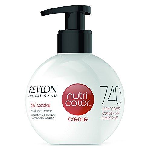 REVLON PROFESSIONAL Nutri Color Crème, Nr. 740 Light Copper, 1er Pack (1 x 270 ml) - Rotes Haar Creme