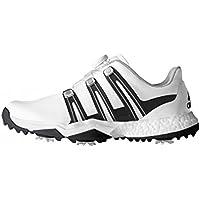 adidas Powerband Boa Boost WD, Zapatos de Golf Para Hombre, Blanco/Negro/Plata, 44 EU
