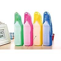 Xuniu 250 ML Portátil Mascotas Perro Botellas de Agua Tanque Plegable Diseño de Bebidas Dispensador de
