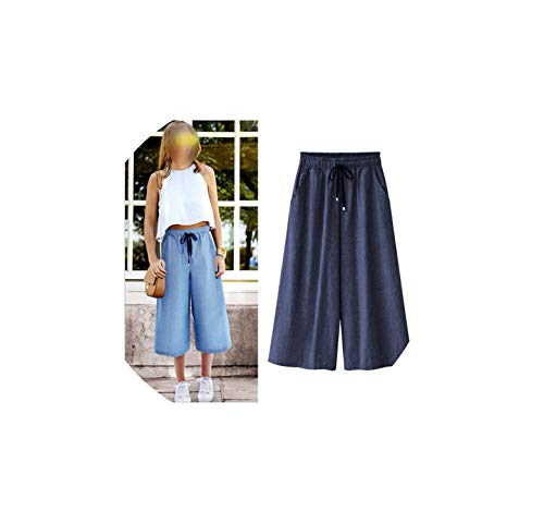 Strawberryran Pants Bequeme Einfache Sommer-dünne beiläufige lose, Blau, M - Girl American Strand Kleidung Puppe