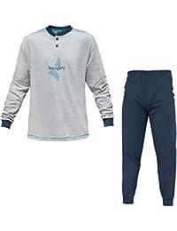 f79ac1ba5498 Navigare Pigiama Uomo Cotone Jersey 3 Colori Serafino Art.140744