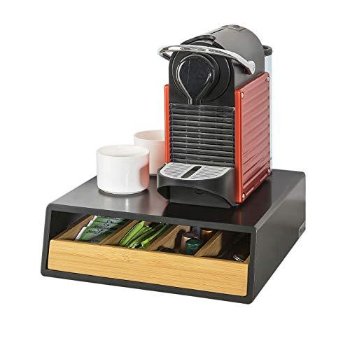 Sobuy contenitore porta capsule e cialde caffè nespresso 4 scomparti in legno frg280-sch