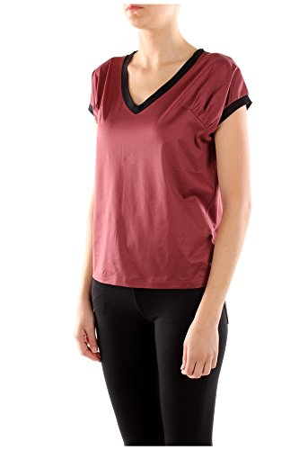shirt Baumwolle Rot T Damen 135553amaranto Prada p4Hq1A