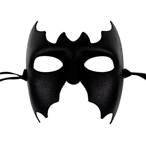 Batman Schwarz Männer Venezianische faschingsmasken Maskerade maskenball maske herren - Erstklassige Qualität, in Italien (Masken Maskerade Italienische)