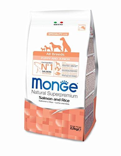 CROCCHETTE MONGE ALL BREEDS PUPPY & JUNIOR SALMONE E RISO 2,5KG 100% ITALIANO