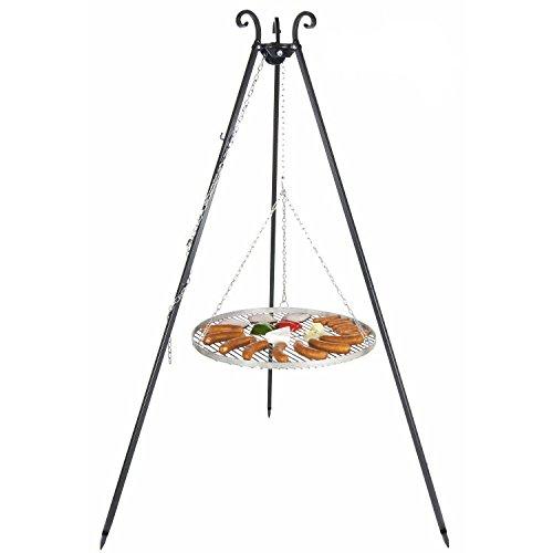 Schwenkgrill mit Dreibein und Rost aus Edelstahl (70cm)