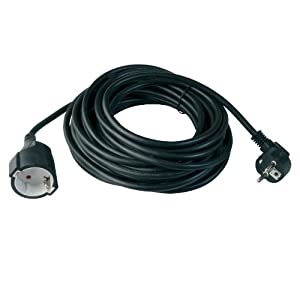 Power Extension Cable odedo 2/m Euro Cable alargador Cable de alimentaci/ón Cable alargador extensi/ón CEE 7//16/2/Metros Macho a Hembra Blanco