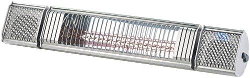 Semptec Terassen-Heizstrahler: 2er-Set Low-Glare-IR-Heizstrahler mit Bluetooth, Lautsprecher & App (Elektrischer Infrarot-Heizstrahler)