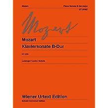 Klaviersonate B-Dur: Nach den Quellen hrsg. von Ulrich Leisinger. Hinweise zur Interpretation von Robert D. Levin. Fingersätze von Heinz Scholz. KV 570. Klavier. (Wiener Urtext Edition)