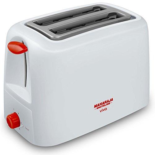 Maharaja White Line Viva 750-watt Pop-up Toaster (red And White)