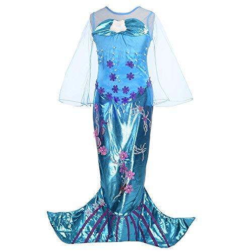 HJ&WL Meerjungfrau Kostüm Mädchen Kleid Kinder Ariel Kostüme Prinzessin Kleider Abendkleid Halloween Cosplay Verrücktes Kleid Geburtstag Party - Baby Ariel Prinzessin Kostüm
