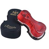 Aofocy Resina de alta densidad Crimpado Colofonía Violín en forma de violín Para cuerdas arqueadas Instrumentos musicales Violín Viola Violonchelo Erhu Instrumentos de cuerda (rojo)