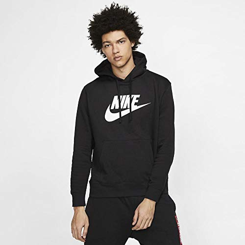 Nike Herren M NSW Club Hoodie PO BB GX Sweatshirt, Black/Black/(White), XL-T