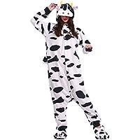 Hstyle Adulto De Dibujos Animados De Pijamas Ropa De Dormir Unisex Kigurumi Monos Mamelucos Trajes De Vaca