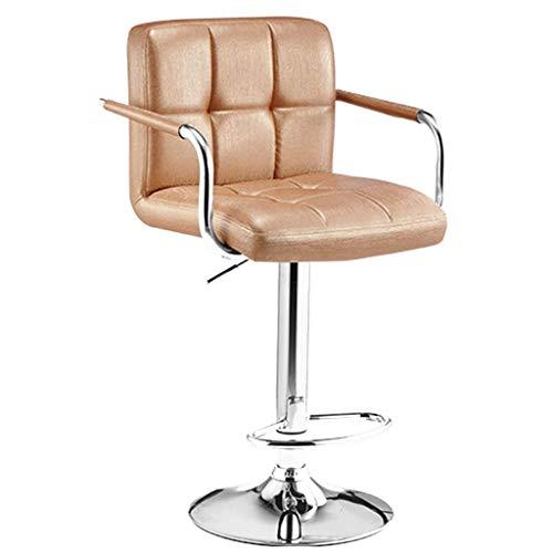 AINIYF Taburetes de la barra ajustable Contador taburetes sillas de cuero sintético...