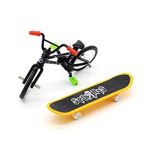 XuBa Mini-Fingerboard und BMX-Fahrradspielzeug für Kinder, 4 Farben weiß
