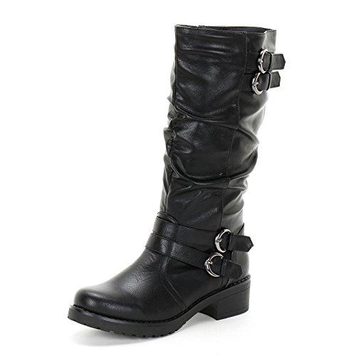 PRENDIMI by Scarpe&Scarpe - Stiefel mit Schnallen, mit Absätzen 4 cm - 39,0, (Mit Stiefel Schwarze Schnallen)