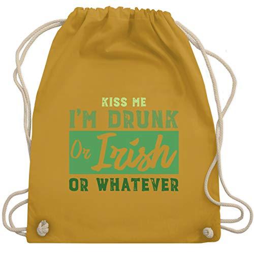 St. Patricks Day - Kiss me I'm drunk or Irish or whatever - Unisize - Senfgelb - WM110 - Turnbeutel & Gym Bag (Girl Kiss Kostüm)