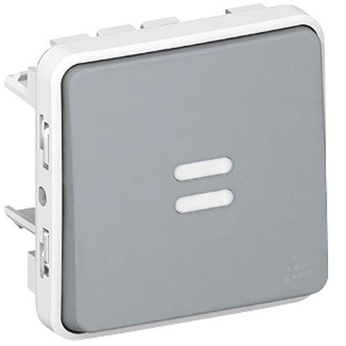 Legrand Plexo LEG69922 - Marco para interruptor (con luz piloto, de empotrar),...
