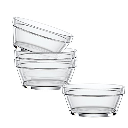 Spiegelau & Nachtmann, 4-teiliges Schalen-Set, 14 cm, Kristallglas, Bistro, 2670144 - Bistro Schalen
