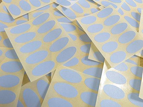 25x12mm Pálido Azul Cielo Forma Ovalada Etiquetas, 100 auta-Adhesivo Código De Color Adhesivos, adhesivo óvalos para Manualidades y Decoración