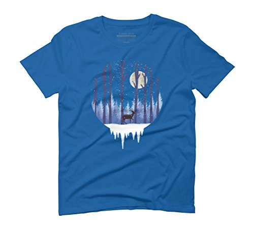 WINTER (S) Men's Graphic T-Shirt - Design By Humans Royal Blue