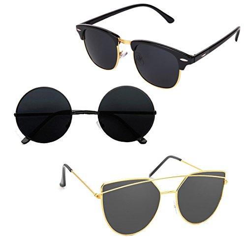 Elligator Stylish tripple combo of Unisex Sunglasses