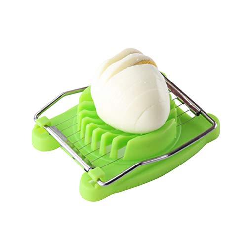 BESTONZON Kreative Edelstahl Eierschneider multifunktionale Ei Cutter Phantasie Ei Teiler Ei Separator Küche Werkzeug (grün)